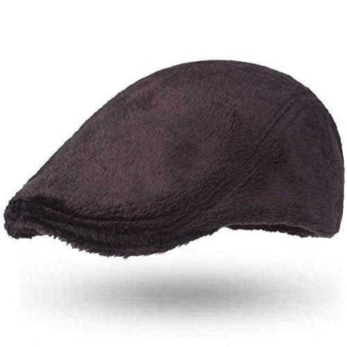 LQMGLP Gorros De Hombre para Invierno Grueso Cálido Grueso Boina De Hombre Boina Lisa Lisa Gorra Plana Sombreros De Boina Hombres Boina Masculina