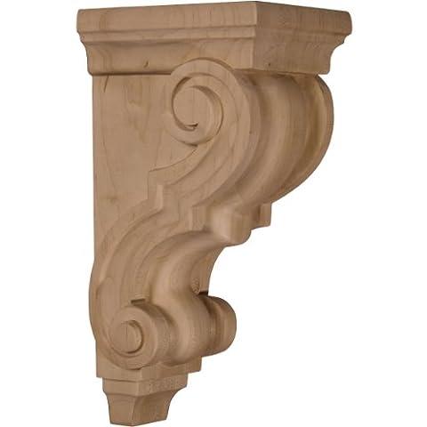 Ekena CORW05X05X10TRAL 4 1/2-Inch Width x 5-Inch Depth x 10-Inch Height Medium Traditional Wood Corbel -