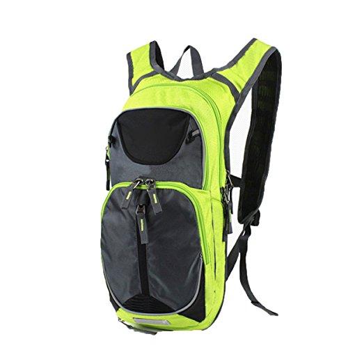 Outdoor Rucksack Mountaineering Bag Männer Und Frauen Walking Rucksack Rucksack Ultra-light Breathable Wasserdichte Tasche,Black Green2