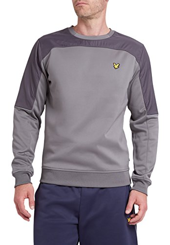 lyle-scott-mens-brownlee-crew-neck-with-nylon-overlay-z39-slate-small