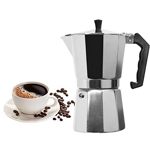 JIAX Kaffeemaschine Aluminium Mokka Espresso Espressokocher Topf Kaffeemaschine Moka 6Cup Stovetop Kaffeemaschine, Rapid-Brew-Technologie