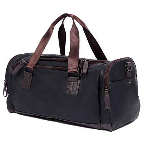 Meoaeo Die Men'S Schultertasche Handtasche Diagonal Mit Hoher Kapazität Und Multifunktionale Freizeit Tasche Classic black