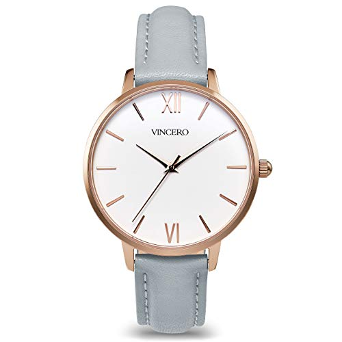 Vincero Luxury Women's Eros Wrist Watch - Rose Gold + White dial with a Fog...