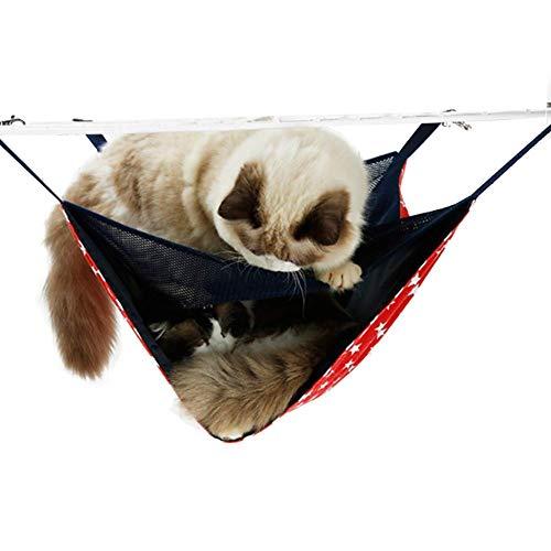 DELIFUR Hamaca para Gatos cómoda de 2 Niveles