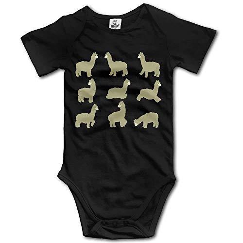 Organic Infant Creeper (New Shorts Cute Alpaca Cartoon Baby Romper Bodysuit Short Sleeve Infant Creeper Jumpsuit)