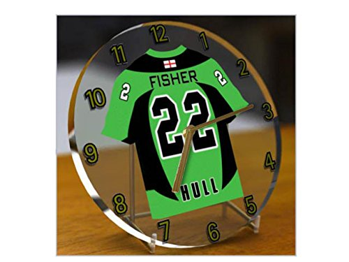 Hockey su ghiaccio English Premier League EPL jersey orologio da tavolo-qualsiasi nome, qualsiasi numero, qualsiasi squadra-personalizzazione gratuita. Hull Pitates