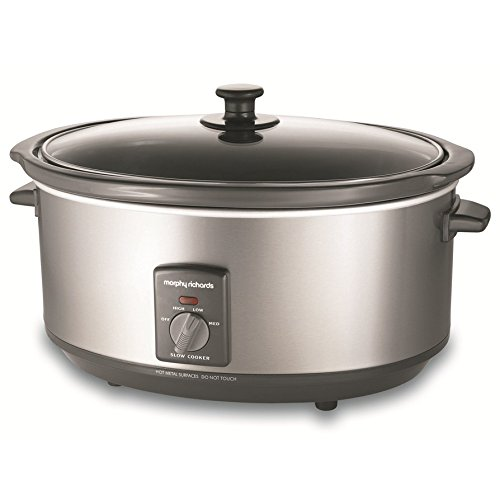 Morphy Richards 48718A - 6.5L Silver Slowcooker