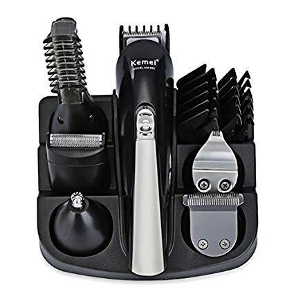 Haarschneider Hair Clipper Rasierer stellt Elektrorasierer Bart Trimmer Haar schneiden Grooming Kit 6 In 1 for herren (Trim Grooming Kit)