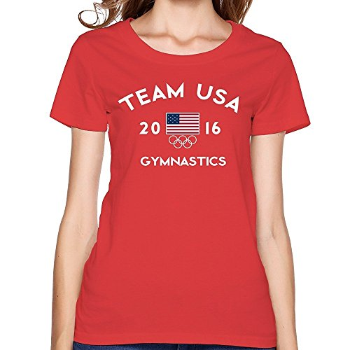 7c2f43b2de6dce Damen Team USA Gymnastics Rio 2016 Olympic Short Slev Tee Tshirt Medium