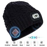 Bluetooth Beanie Mütze eingebaute LED-Leuchte Musik Knit Beanie für einen Funkkopfhörer Kopfhörer Lautsprecher MIC Hände kostenlos Valentinstag für Winter Outdoor-Sport-Ski Snowboard Jogging