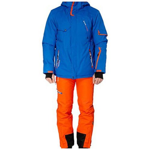 Peak Mountain - Ski-Kleidung Set Mann Cosmic - blau/orange - XL