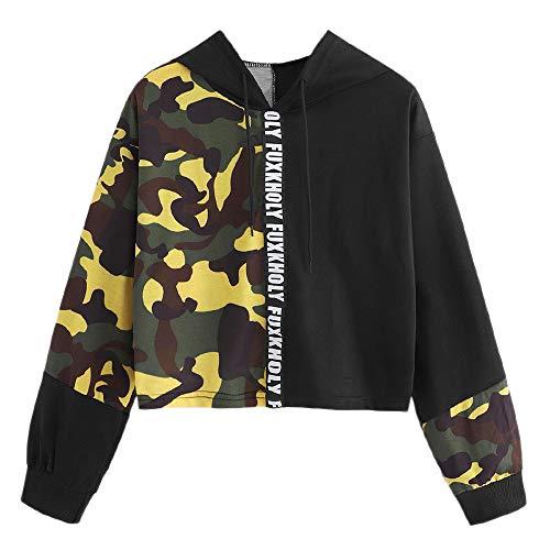 TWBB Hoodie Damen Camouflage Drucken Kapuzenpullover Kordelzug Sweatshirt Langarm Pullover Sweatshirt Tops Bluse 2018
