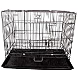 pet zone India Easy to Move with Removable Tray Iron Cage for Dog & Rabbit 18 Inch Sky Blue