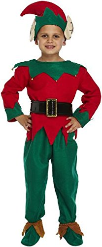 Boy Child Christmas Elf, Sankt Helfer Fancy Dress Outfit. Mittlere Kinder (Kostüm Balloon Boy)