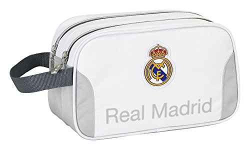Safta 311281 Real Madrid Neceser, Color Blanco y Gris