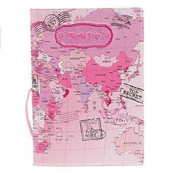 5 cinq Mode couvertures de passeport timbres enveloppe Ensemble de documents de voyage Fournitures (Usa001) rose
