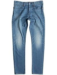 DC Men's Washed Slim Jn Md Ind Bleach Denim Jeans