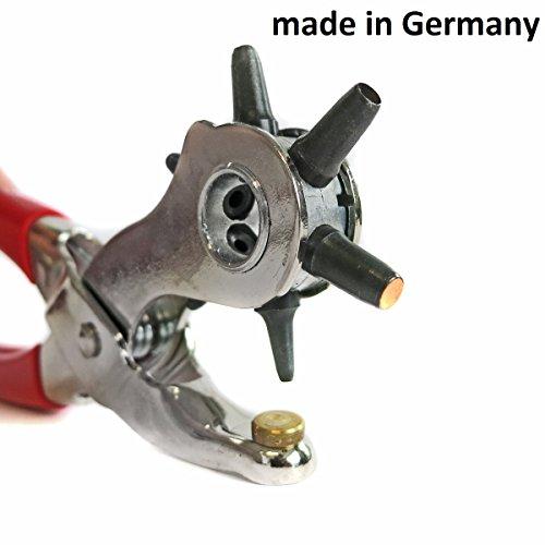 S&R PROFI Revolverlochzange /MADE IN GERMANY/ Lochzange mit 6 auswechselbaren Lochpfeifen 2 - 2,5 -...