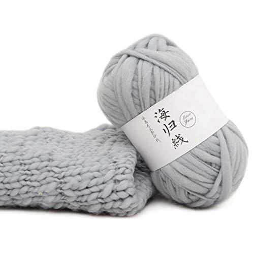 Ludzzi grossa in fili diy morbido tessuto a mano a crochet naturale per sciarpe maglioni cappello sedile scialle 25colori 5