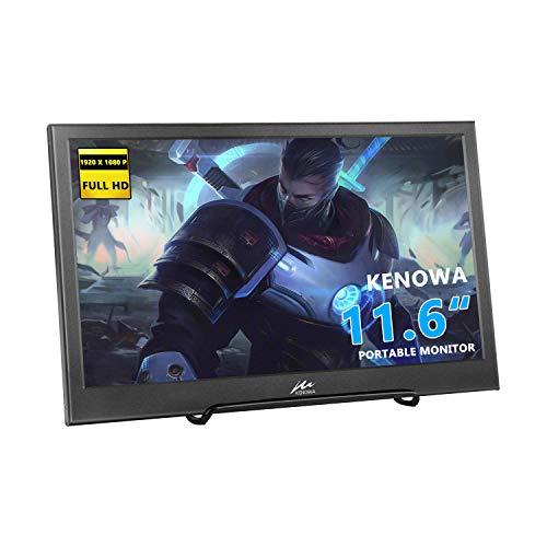 """11.6"""" HD Monitor, kenowa IPS 1920 * 1080P piccoli portatile LED Monitor con ingresso HDMI per Raspberry Pi 3B 2B B + PC - Auto Fotocamera DSLR telecamera CCTV Xbox 360 Windows 7/8/10"""