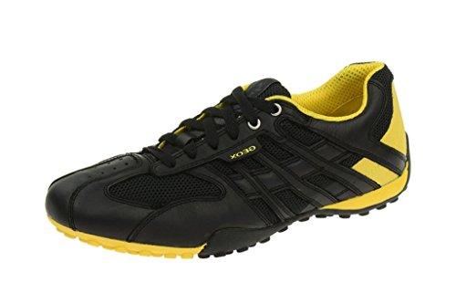 Geox  Geox Snake - Herren Sneaker - schwarz gelb - U4207K 01443 C9241, Chaussures de ville à lacets pour homme Noir - Noir
