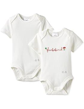 Twins Unisex Baby - Body Kurzarm Glückskind, 2er Pack