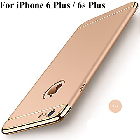 iPhone 6s Plus Case,Heyqie 3in1 Ultra-thin 360 Full Body Anti-Scratch Shockproof Hard PC Non-Slip Skin Smooth Back Cover Case with Electroplate Bumper For Apple iPhone 6 plus / 6s Plus 5.5