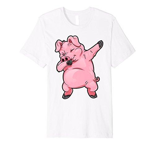 Pig Sanftes T Shirt Funny Piggy Farm Farmer Pig DAB Dance