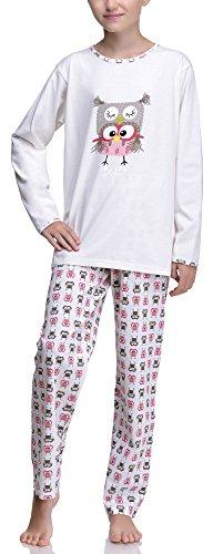 Timone Mädchen und Jugendlicher Schlafanzug 210 (Muster-v1, 152)