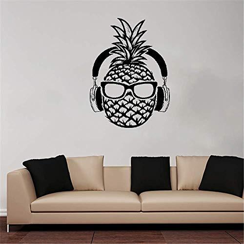wandaufkleber 3d Wandtattoo Schlafzimmer Kreative Ananas Dj Kopfhörer Sonnenbrille Teenager Dekor Aufkleber Wohnkultur Schlafzimmer Spielzimmer