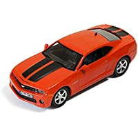 CHEVROLET CAMARO 2012 METALLIC ORANGE WITH BLACK STRIPES 1:43 Ixo Model Auto Stradali modello modellino die cast