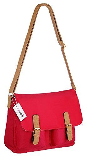 Damen Rot Frauen London Satchel Handtasche Schultertasche t88xg4