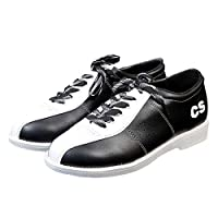 Men's Women's Bowls Shoes, Genuine Leather Lightweight Breathable Bowling Trainers Indoor Outdoor Non-Slip Sneakers,White,38