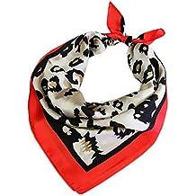 Fansi 648 5000 1 pièce Foulard pour Femme en Soie Texture Foulard carré  Foulard imprimé 28ca07dcccf