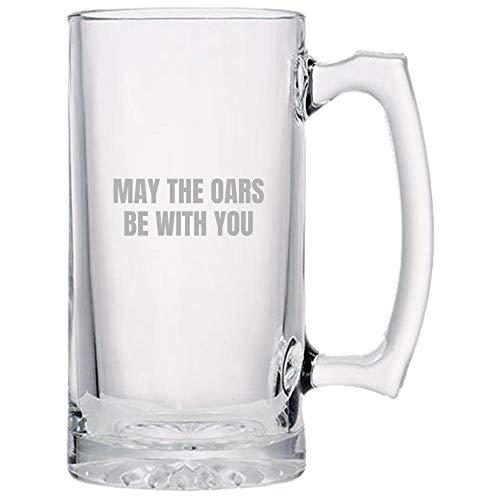 ANDY20MAG Funny canottaggio Vogatore birra in vetro idea regalo può il remi be with you boccale di birra