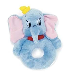 Disney Animal Tales Baby Plush Rattle - Dumbo