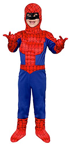 NEVAL MAN BOY INSECT für KARNAVALKOSTÜME fancy dress halloween cosplay veneziano party 28011 Size 7/S (Spider Man Boy Kostüm)