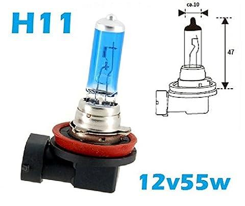 2x Stück H11 55W Glühlampe mit GAS - Xenon Halogen