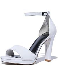 COOLCEPT Zapato Mujer Simple Tacon de Aguja Tacon medio Sin Cordones D'Orsay Court Zapatos (35 EU, Silver)