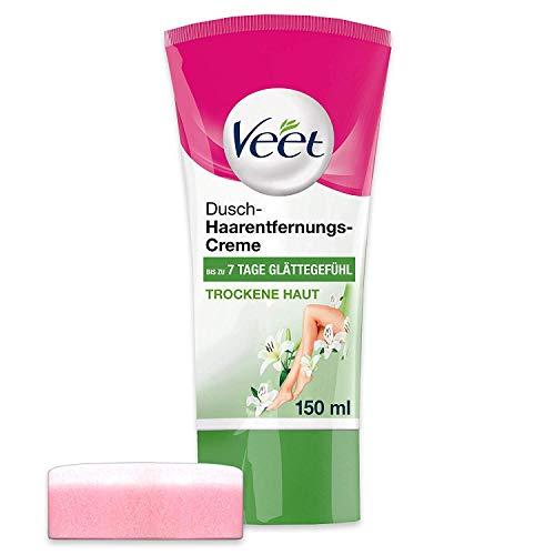 Veet Dusch-Haarentfernungs-Creme Silk & Fresh für trockene Haut, 150 ml