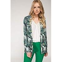 DeFacto Tropik Desenli Blazer Kadın Takım Ceketi Ve Blazer Ceket
