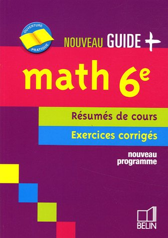 Math 6e : Rsums de cours - Exercices corrigs