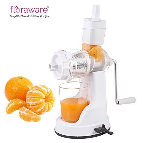 Floraware Plastic Fruit and Vegetable Juicer, White (IPL-WHITEx2)