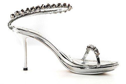 Sandalo donna ALBERTO VENTURINI argento N.40 scarpe gioiello con plateau X3110