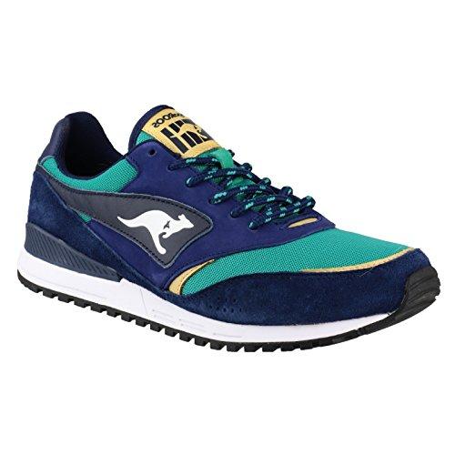 Kangaroos Frenzy Roos 002 B Herren Sneaker - Blue & Green