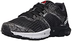 Reebok Womens One Cushion 3.0 Running Shoe, Black/Silver Metallic/Coal/Running White, 5 M US