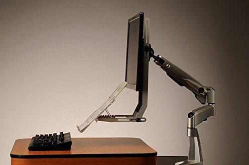 VuRyte 59Gr World's First In-Line Ergonomic Document Support for Monitor Arms