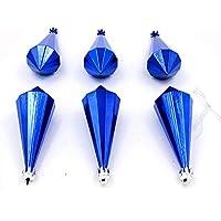 YUYU Diamanti blu placcato oro regalo di decorazione a forma di Natale palla ornamenti 6/Pack