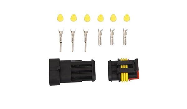 1 Set 3 Pin Toy Car Connettore impermeabile per crogiolo di automobile spina R SODIAL