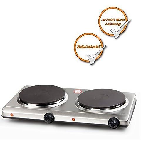 Réchaud électrique 2 plaques de cuisson avec thermostat 6 positions